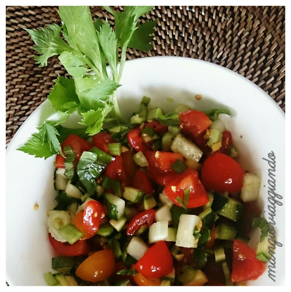 ratatouille di verdure per l'insalata di riso