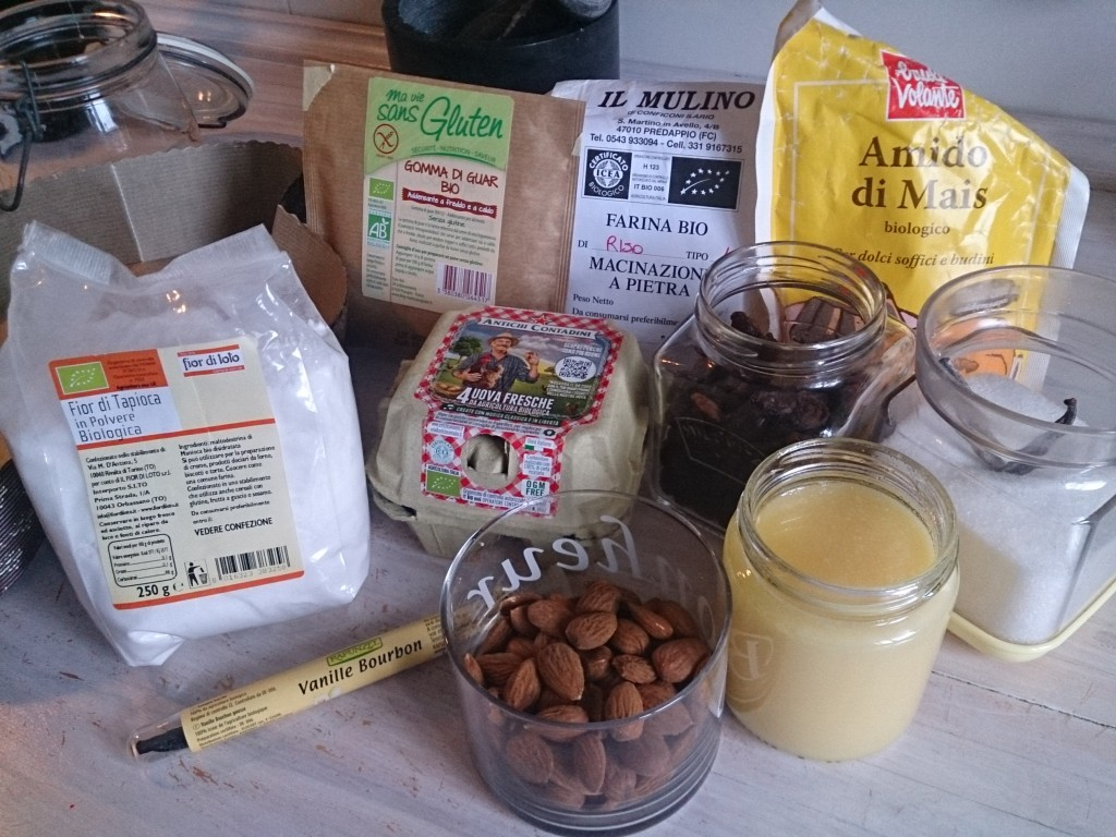 the ingredients for Colomba pasquale gluten-free and lactose-free