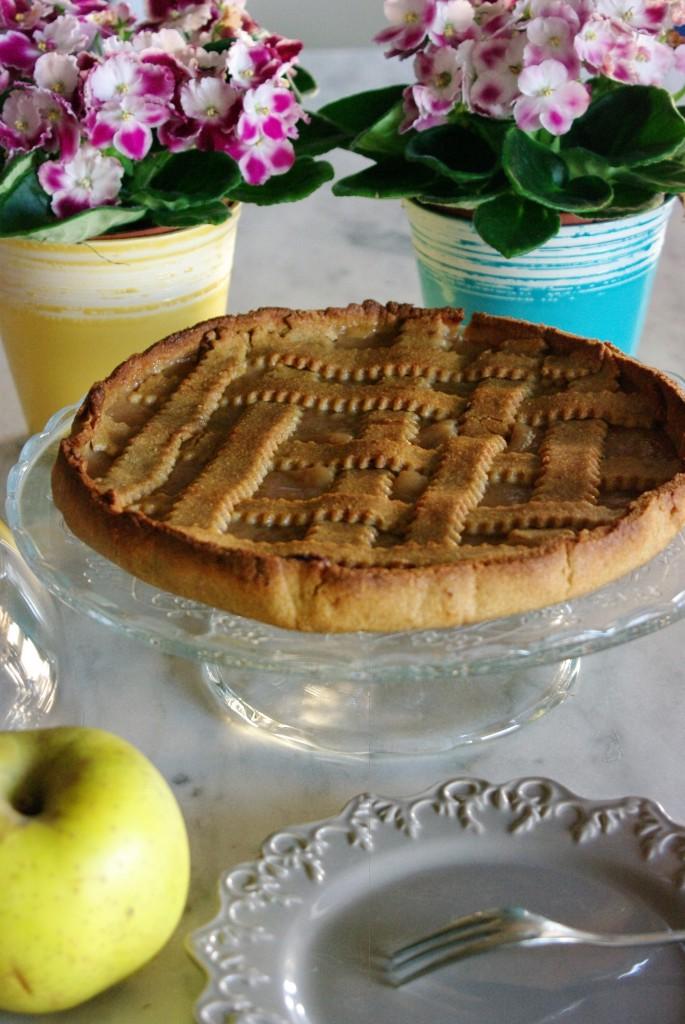 Crostata di mele renette senza glutine e senza lattosio