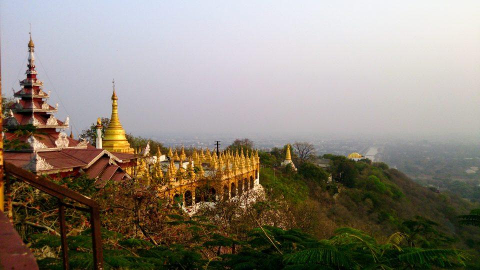 vista dalla Mandalay hill Mandalay - Myanmar