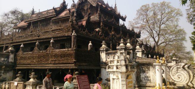 Mandalay - Myanmar : Shwe Nan Daw Kyaung (golden palace monastery)