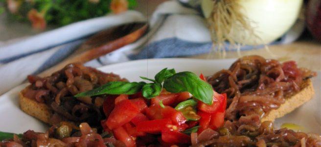 Cebollas con vinagre balsamico
