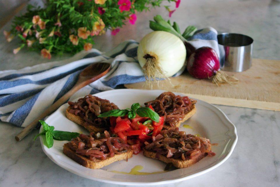 Cebollas con vinagre balsámico